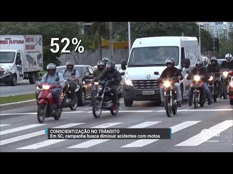 Campanha estadual busca reduzir o número de acidentes com motocicletas