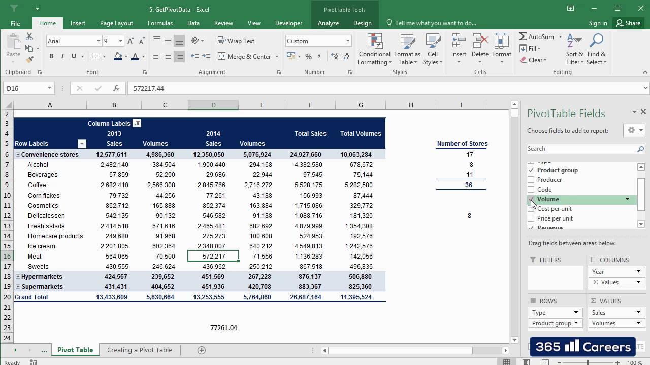 how to use getpivotdata in excel 2016  pivot tables excel