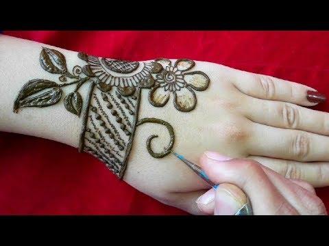stylish and simple mehndi design