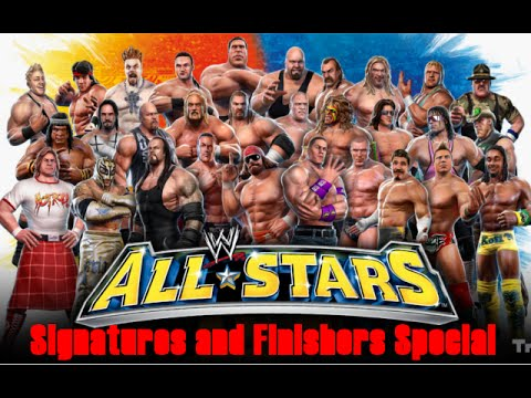 Alle WWE Allstars Signature und Finishers / All WWE Allstars