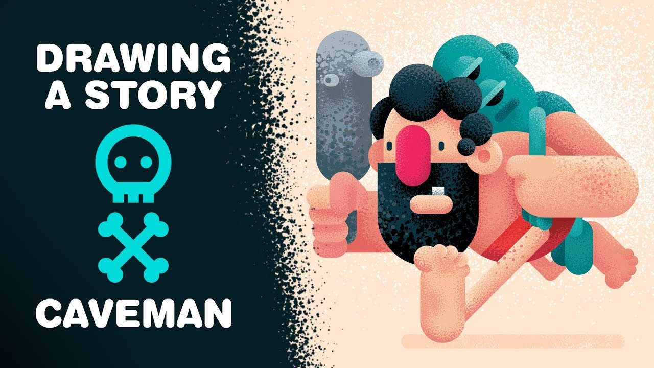 Caveman Questions : Drawing a story how to draw caveman adobe illustrator cc