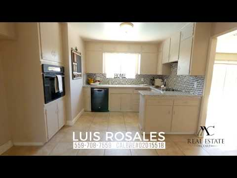 Just Listed! 5740 N Callisch Ave,Fresno, CA  93710    Realtor: Luis Rosales