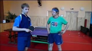 Нестандартный прием подачи в настольном теннисе