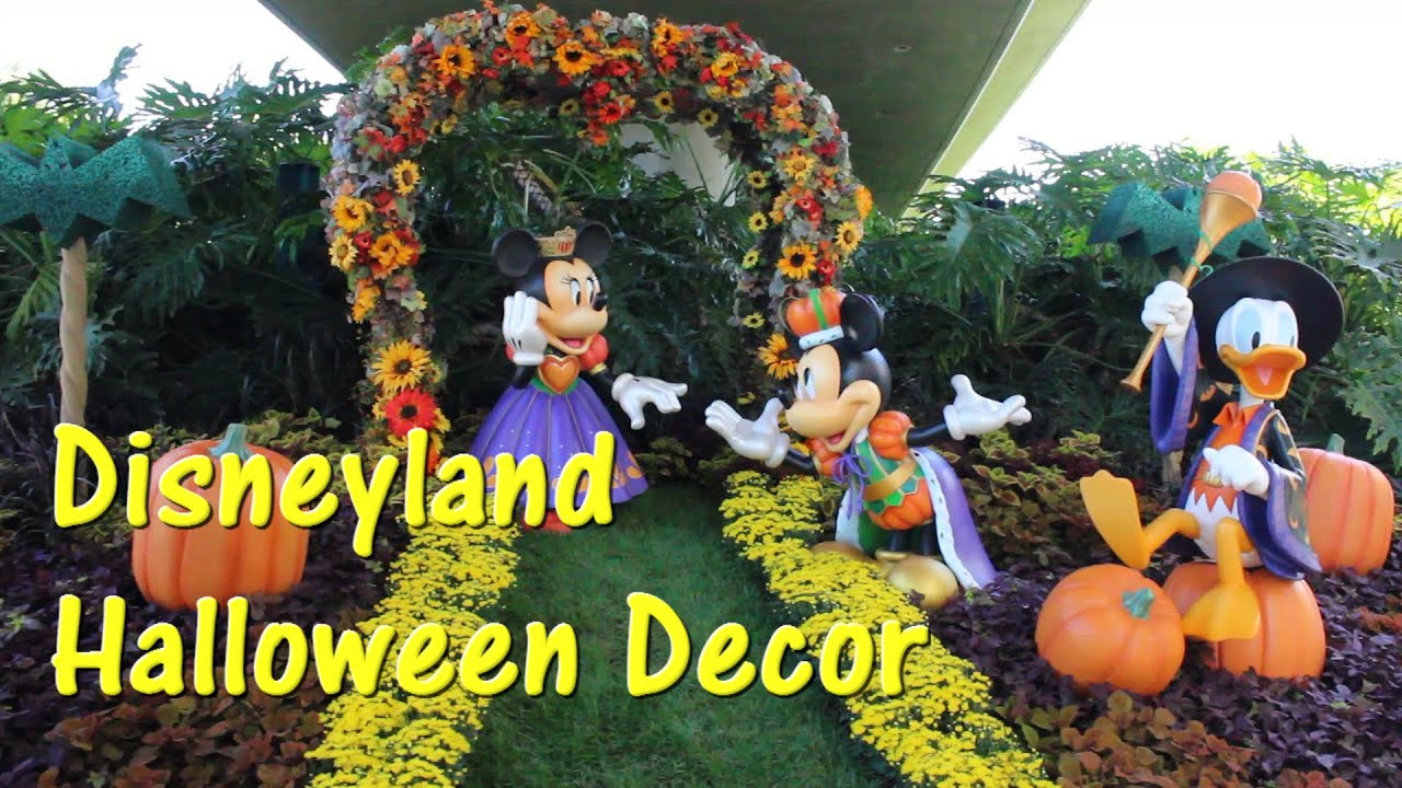 disneyland halloween decorations on main street characters too
