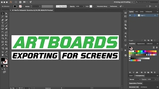 Adobe Illustrator CC 2017 - Artboards - Exporting for Screens