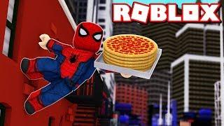 SPIDERMAN DELIVERING PIZZAS in ROBLOX