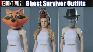 RE2 Ghost Survivors All Accessories - Resident Evil 2 Remake 2019