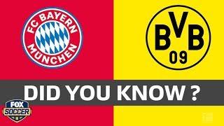3 facts you didn't know about battle between Bayern Munich and Borussia Dortmund | 2019 Bundesliga