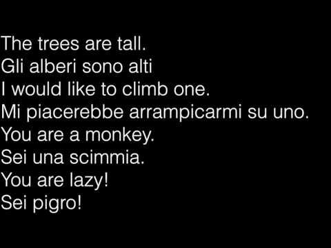 Learn Italian meetings jokes fun laughter mountains