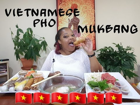 🇻🇳 Vietnamese phở Mukbang (eating show)⚠️slurping sounds