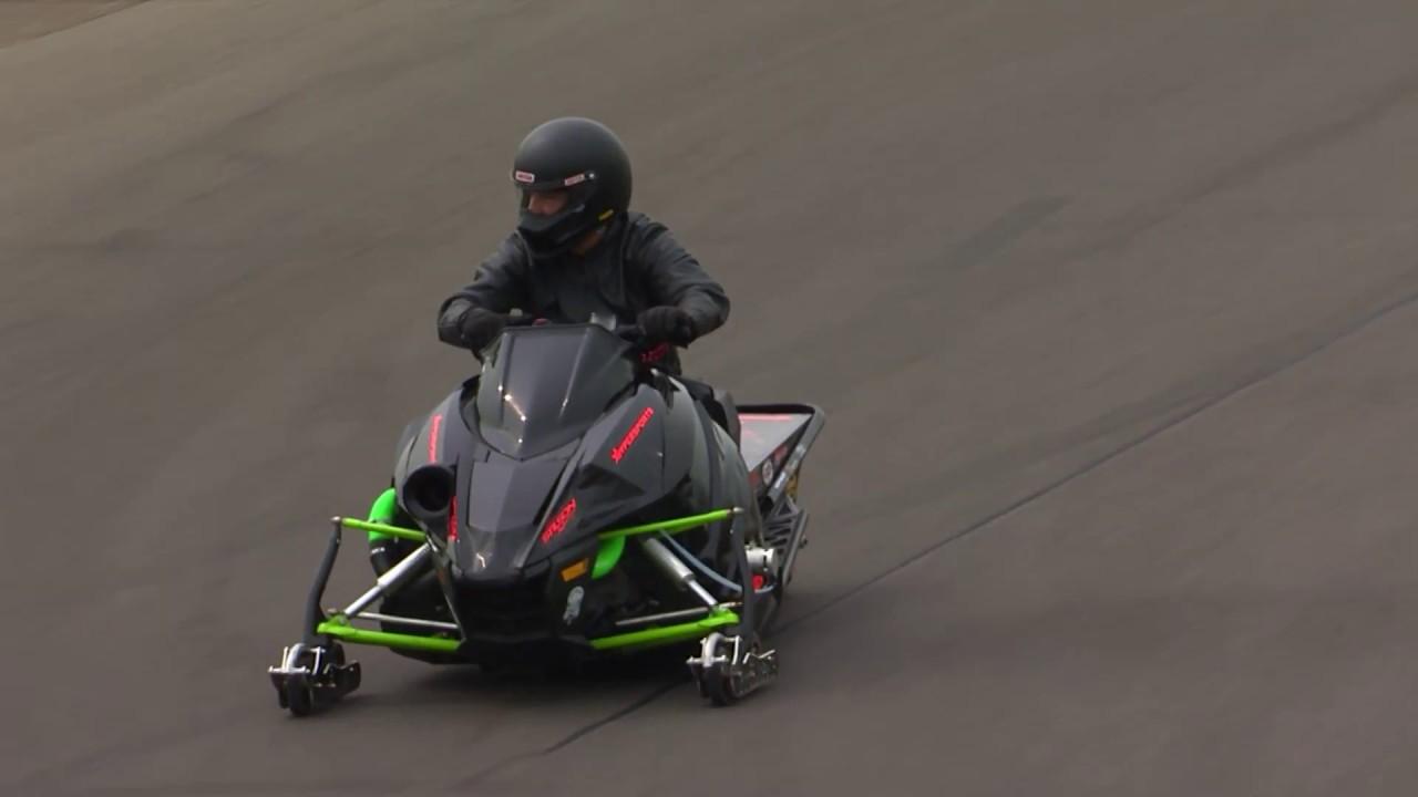 2018 Lucas Oil Nationals Snowmobile winner Glen Hall