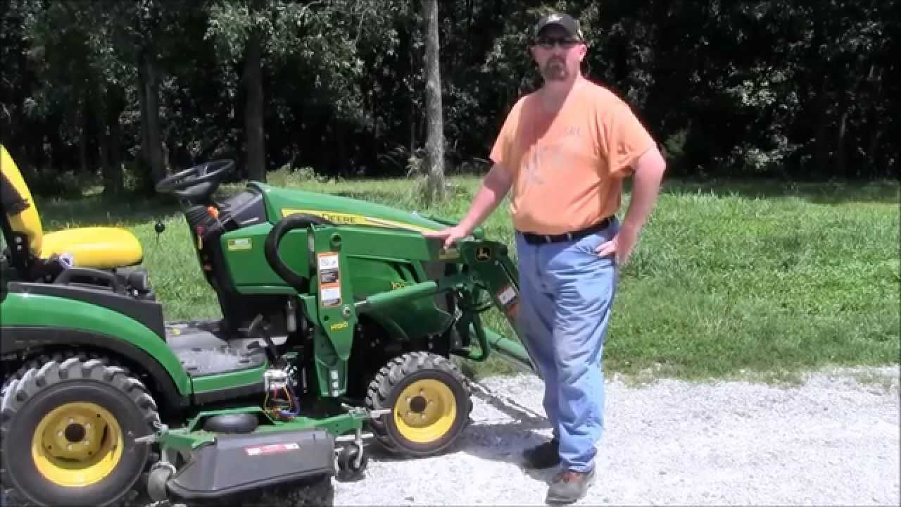 John Deere 1025r Tractor Amp How To Use Quick Connect