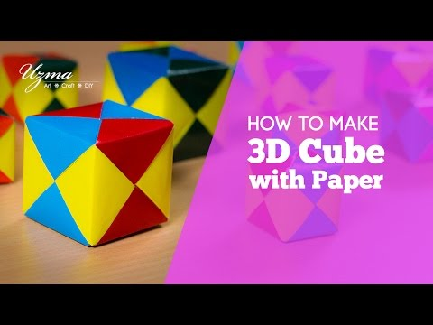 How to make 3D Cube with Paper | Origami | Easy Craft Idea
