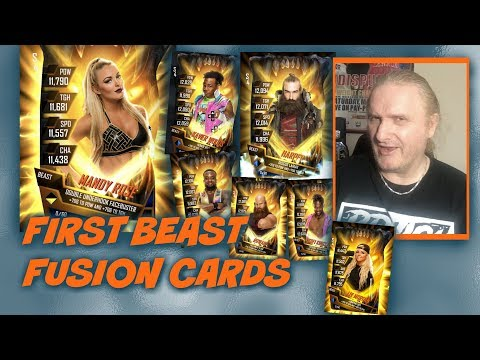 First Beast Fusion Cards : WWE SuperCard S4 Ep41