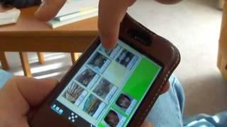 自閉症児向けiPhone用アプリの「絵カード・コミュニケーション」の使用...