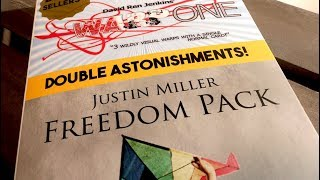 WARP ONE & FREEDOM PACK (DOUBLE ASTONISHMENTS) by Justin Miller & David Jenkins