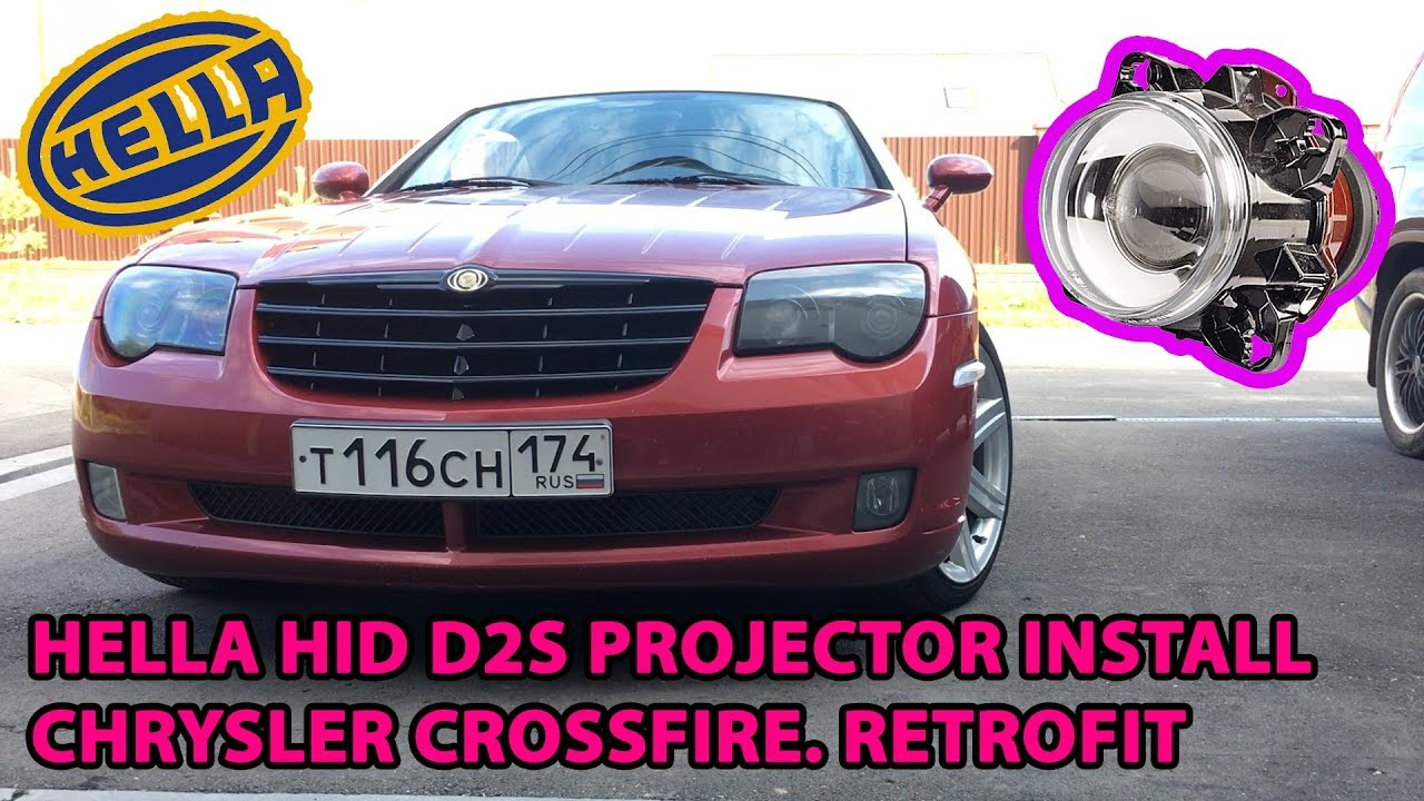 hella hid projector installing chrysler crossfire retrofit [ 1280 x 720 Pixel ]