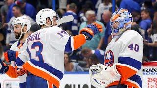 Варламов сдержал \Тампу\ в матче №1 Россияне в НХЛ 13.6.21