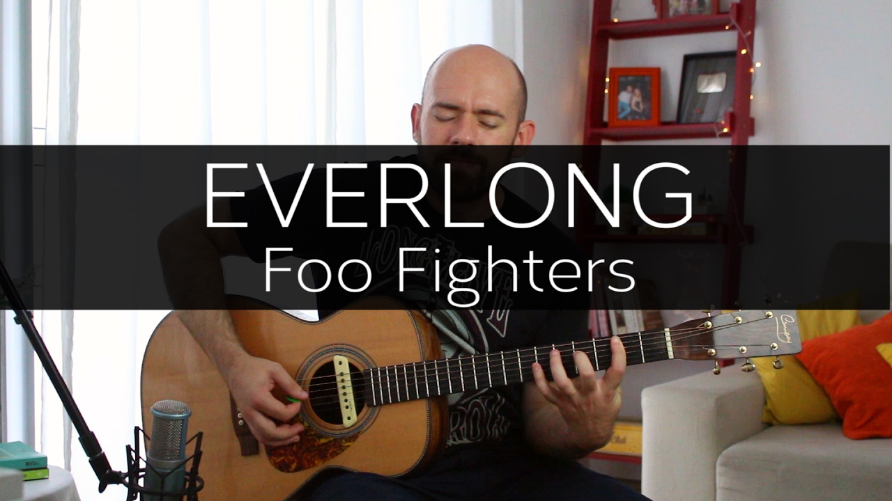 Everlong Foo Fighters Acoustic Guitar Solo Cover Fingerstyle