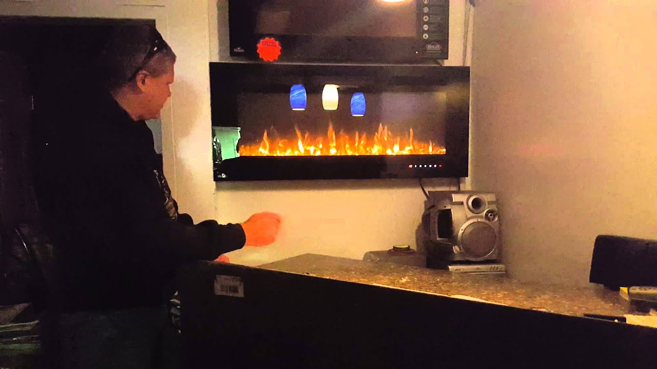 Napoleon Allure Electric Fireplace - YouTube