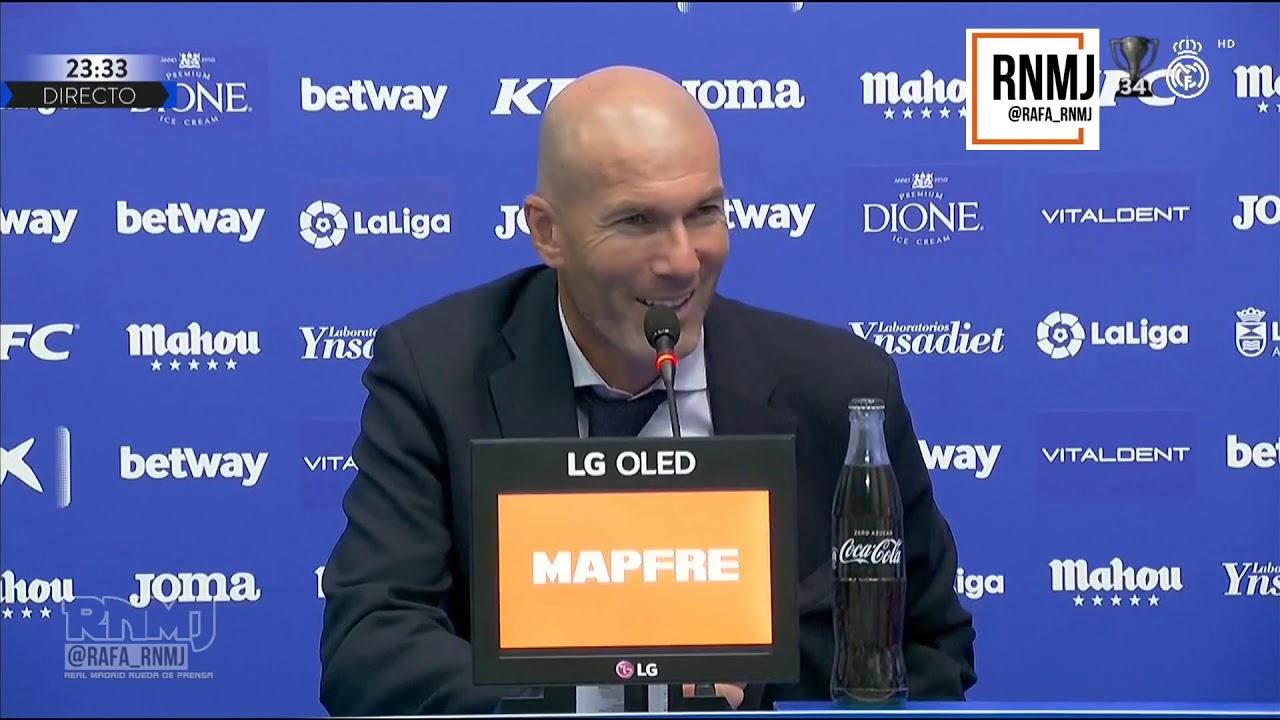 Rueda de prensa de ZIDANE post Leganés 2-2 Real Madrid (19/07/2020)