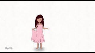 رسم وتحريك فتاة على تطبيق. FlipaClip