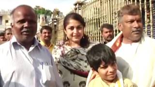 Ramyakrishna And Krishna Vamsi Family Visit Tirumala | Unseen Video