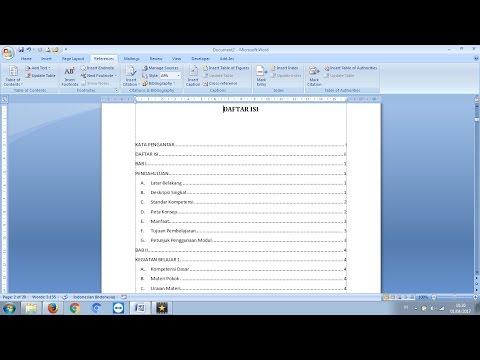 Cara Membuat Daftar Isi yang Rapi - Tutorial Microsoft Word.