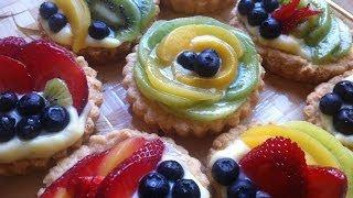 Mini Fruit Tarts ( تارت الفواكه  الطازجة  (مترجم للعربي