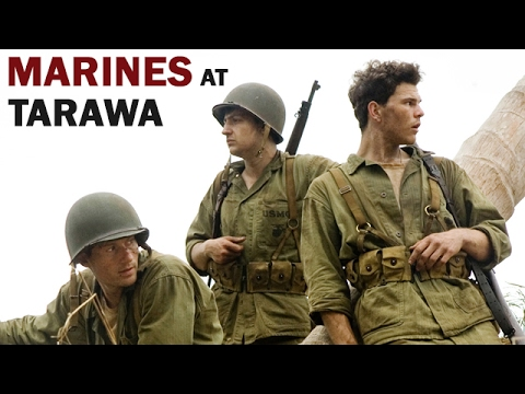 U.S. Marines in Battle of Tarawa  1943  WW2 Documentary in Color