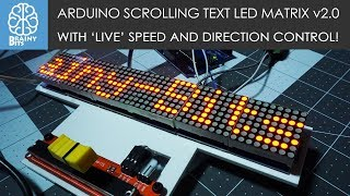 Arduino Scrolling Text LED Matrix with 'LIVE' speed and direction control - Tutorial