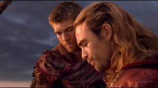 Спартак и Ганник разговаривают по душам и нападают на повозку Красса.Спартак:Война проклятых
