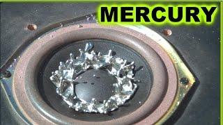 MERCURY (Hg)  on a Woofer -  Mesmerizing Slow Motion
