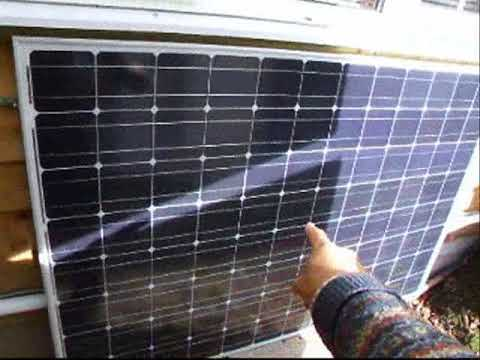 Off grid solar energy stored in batteries for evenings