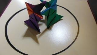 紙相撲。How to make Origami Sumo Wrestler.★Japanese paper SUMO.