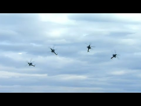 Авиашоу пилотажных групп в День Победы