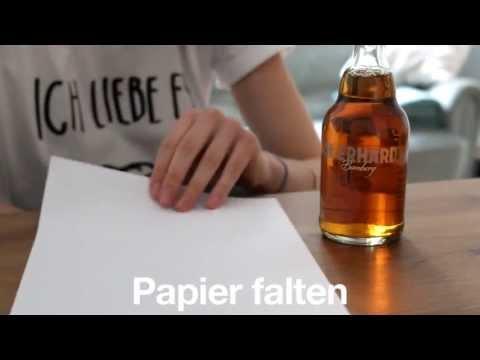 Tutorial: Bier mit einem Blatt Papier öffnen