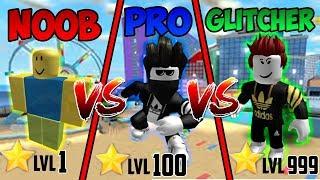 Noob vs Pro vs Glitcher in Mad City + 1000 Robux giveaway | Roblox
