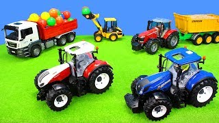 Bruder Tractor & Excavator in best Action   Toys & Playsets Unboxing Movie for Kids