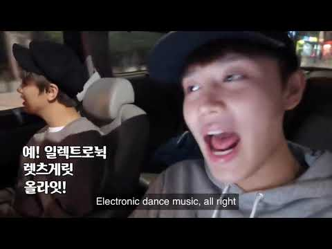 haechan and taeil getting hyped up before playing edm