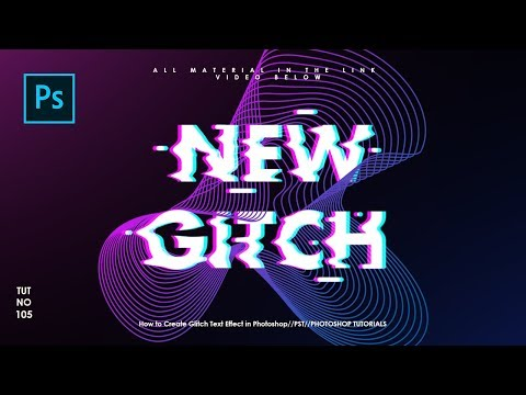 How To Create Glitch Text Effect In Photoshop - Photoshop Tutorials