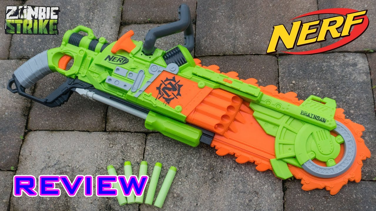 [REVIEW] Nerf Zombie Strike Brainsaw Unboxing Review & Firing Test
