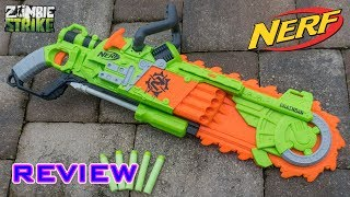 [REVIEW] Nerf Zombie Strike Brainsaw Unboxing, Review, & Firing Test