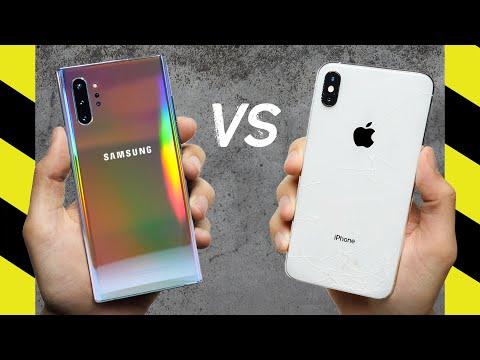 Galaxy Note 10 Plus vs iPhone XS Max Drop Test