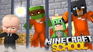 Minecraft SCHOOL - THE BOSS BABY IS SENT TO PRISON w/TINY TURTLE & LITTLE LIZARD - Donut the Dog