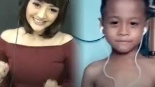 Smule ! Lucu goyangnya. Bocah kecil nyanyi lagu syantik - Siti Badriyah. #Yusuf.