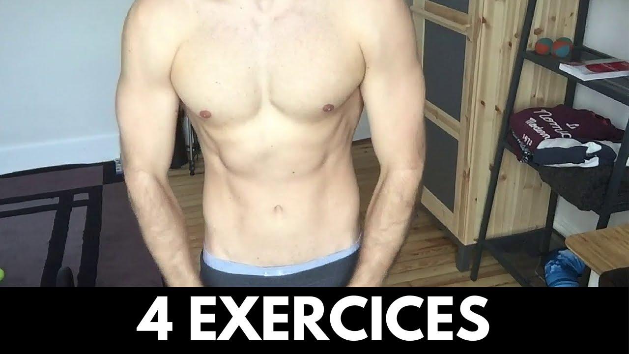 4 Exercices TOP pour se Muscler SANS Matériel - YouTube