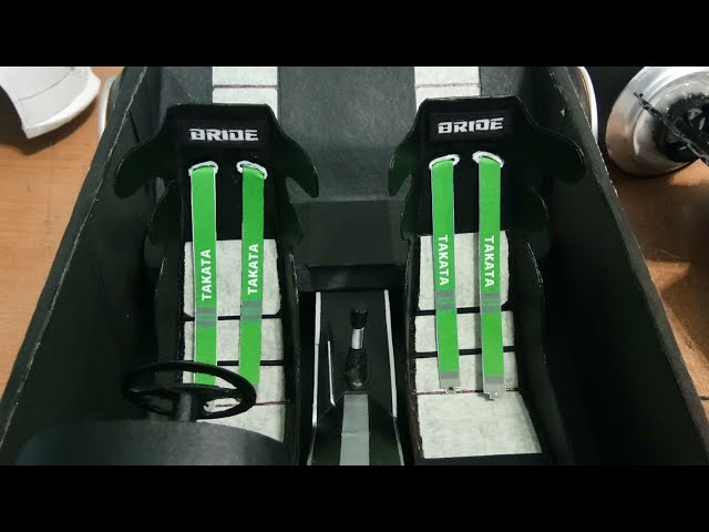 Proton Persona Stance Paper Car making Dashboard & Seat #part4