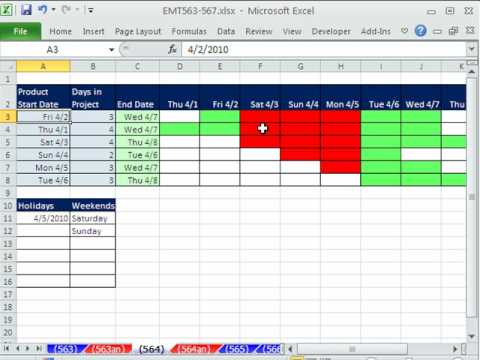 How to Create a daily Gantt Chart in Microsoft Excel « Microsoft ...