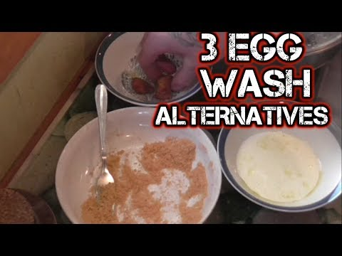 3 EGG WASH Alternatives Crumb Meat Without EGGS